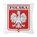 polska-dark.png Woven Throw Pillow