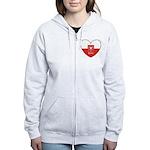polska-heart2.jpg Women's Zip Hoodie