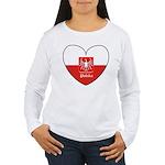 polska-heart2.jpg Women's Long Sleeve T-Shirt