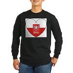 polska-heart2.jpg Long Sleeve Dark T-Shirt