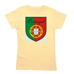 Portugal Flag Crest Shield Girl's Tee