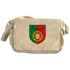 Portugal Flag Crest Shield Messenger Bag