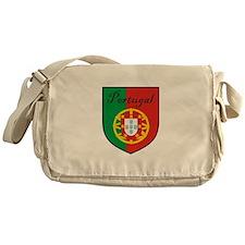 Portugal Flag Crest Shield Messenger Bag