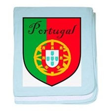 Portugal Flag Crest Shield baby blanket