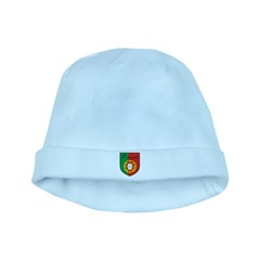 Portugal Flag Crest Shield baby hat