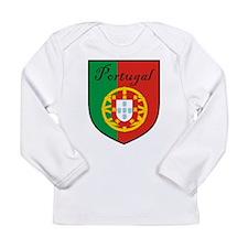 Portugal Flag Crest Shield Long Sleeve Infant T-Sh