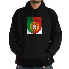 Portugal Flag Crest Shield Hoodie (dark)