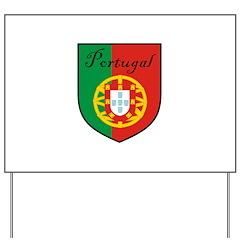 Portugal Flag Crest Shield Yard Sign