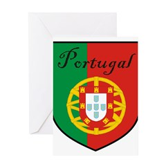 Portugal Flag Crest Shield Greeting Card