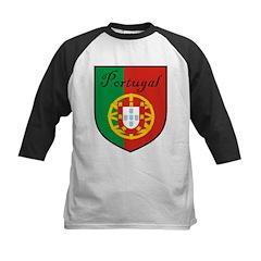 Portugal Flag Crest Shield Kids Baseball Jersey