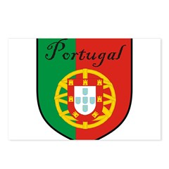 Portugal Flag Crest Shield Postcards (Package of 8