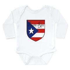 PuertoRico-Shield.jpg Long Sleeve Infant Bodysuit