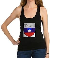 Slovenia Flag Crest Shield Racerback Tank Top