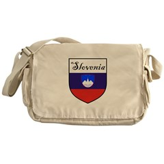 Slovenia Flag Crest Shield Messenger Bag