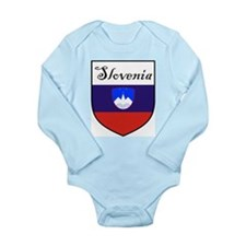 Slovenia Flag Crest Shield Long Sleeve Infant Body