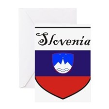 Slovenia Flag Crest Shield Greeting Card