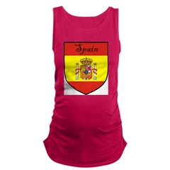 Spain Flag Crest Shield Maternity Tank Top