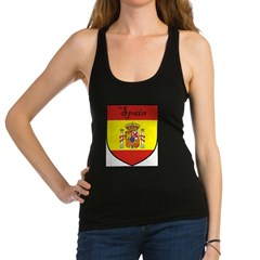 Spain Flag Crest Shield Racerback Tank Top