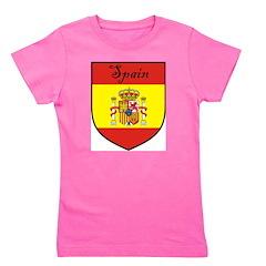 Spain Flag Crest Shield Girl's Tee