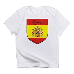 Spain Flag Crest Shield Infant T-Shirt