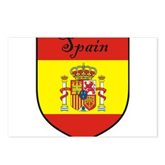 Spain Flag Crest Shield Postcards (Package of 8)