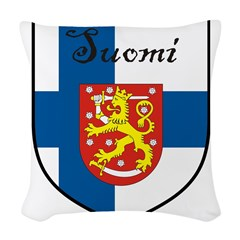 SuomiShield.jpg Woven Throw Pillow