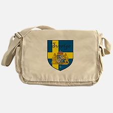 Sverige Flag Crest Shield Messenger Bag
