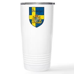 Sverige Flag Crest Shield Travel Mug