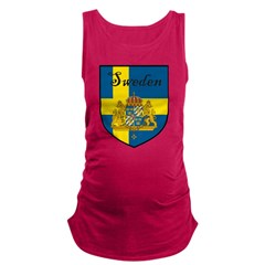 SwedenSHIELD.png Maternity Tank Top