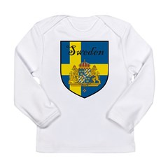 SwedenSHIELD.png Long Sleeve Infant T-Shirt