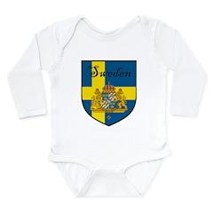 SwedenSHIELD.png Long Sleeve Infant Bodysuit