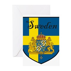 SwedenSHIELD.png Greeting Cards (Pk of 10)