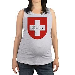 Swiss Flag Crest Shield Maternity Tank Top
