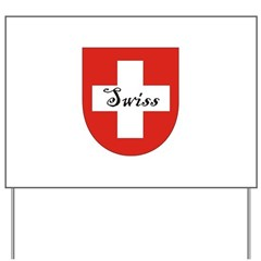 Swiss Flag Crest Shield Yard Sign
