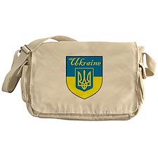Ukraine Flag Crest Shield Messenger Bag