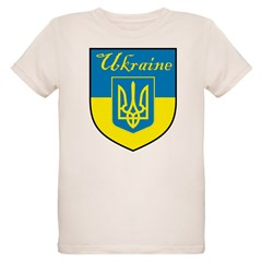 Ukraine Flag Crest Shield T-Shirt