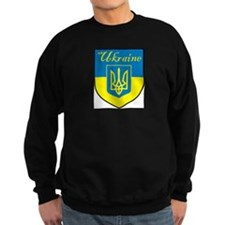 Ukraine Flag Crest Shield Sweatshirt