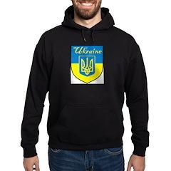 Ukraine Flag Crest Shield Hoodie