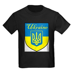 Ukraine Flag Crest Shield T