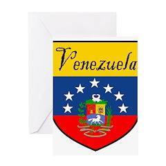 3-Venezuela-shield Greeting Cards