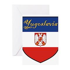 Yugoslav-Shield Greeting Cards