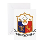 philippines-coa.jpg Greeting Cards (Pk of 10)