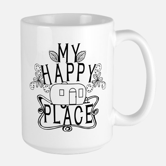 Camping My Happy Place Mugs