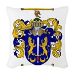 Maher Family Crest Woven Throw Pillow