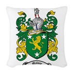 Malone Family Crest Woven Throw Pillow