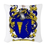 Maloney Family Crest Woven Throw Pillow