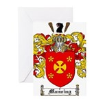 Manning Family Crest Greeting Cards (Pk of 20)