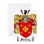Manning Family Crest Greeting Card