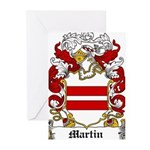 Martin Family Crest Greeting Cards (Pk of 20)