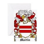 Martin Family Crest Greeting Card